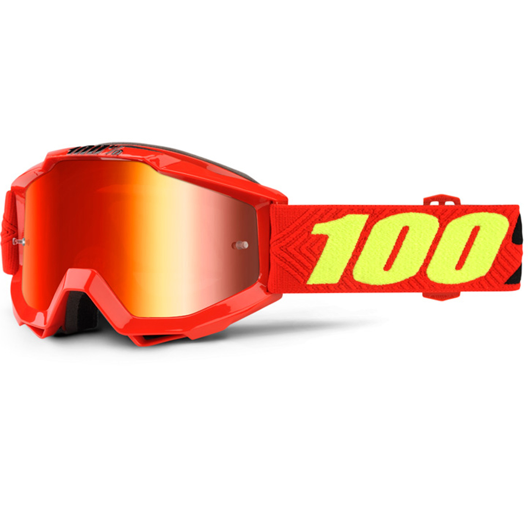 100% Accuri Extra Kinder Motocross Brille, rot-gelb, rot-gelb