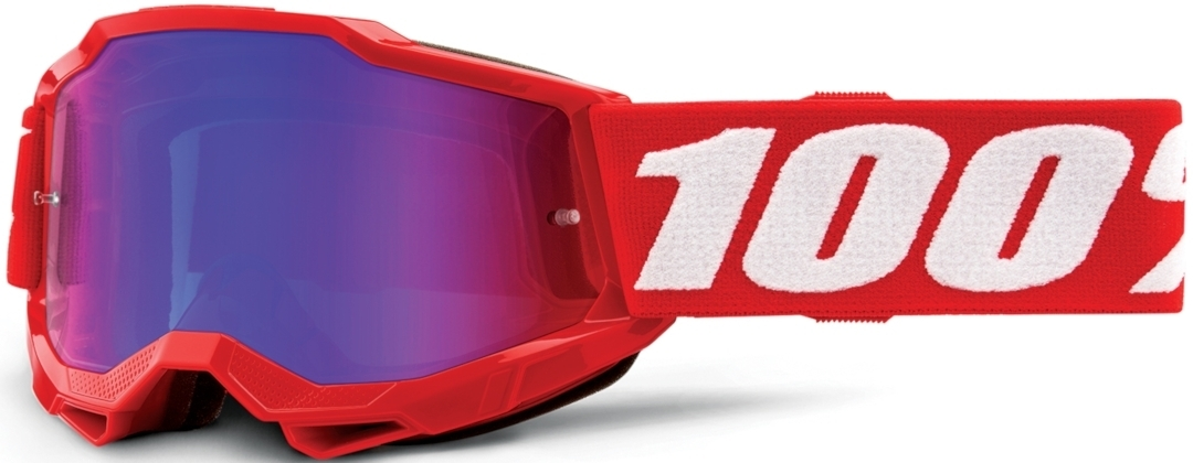 100% Accuri II Extra Jugend Motocross Brille, weiss-rot, weiss-rot