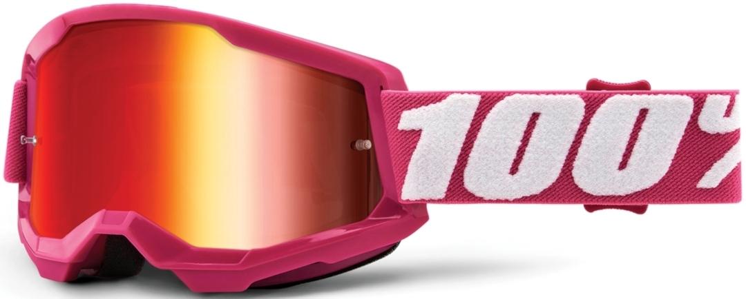 100% Strata II Extra Fletcher Motocross Brille, pink, pink