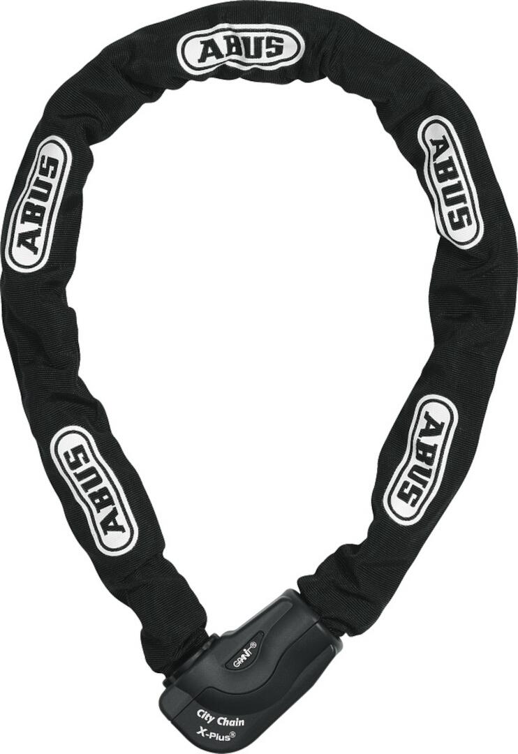 ABUS Granit City Chain XPlus 1060 Kettenschloss, schwarz, Größe 140 cm, schwarz, Größe 140 cm