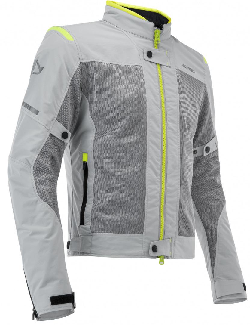 Acerbis Ramsey Vented Damen Motorrad Textiljacke, grau-gelb, Größe 2XL, grau-gelb, Größe 2XL