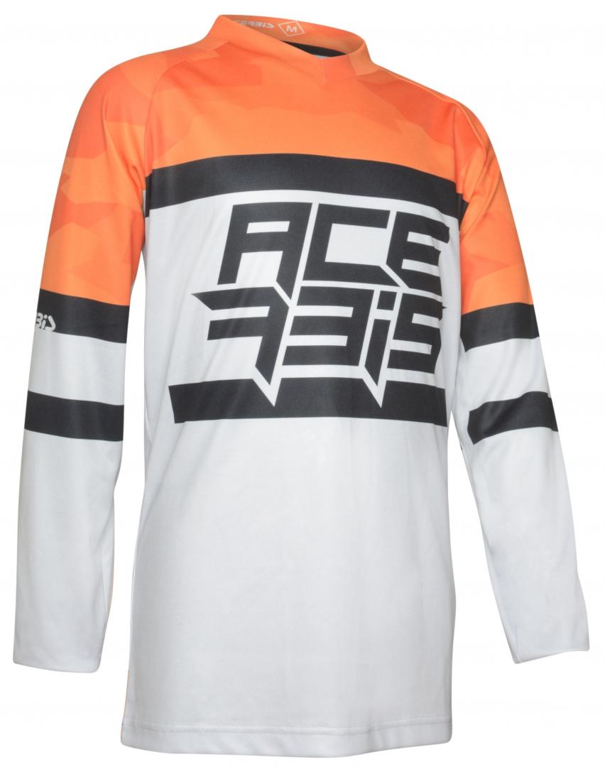 Acerbis Skyhigh Kinder Motocross Jersey, grau-orange, Größe M, grau-orange, Größe M