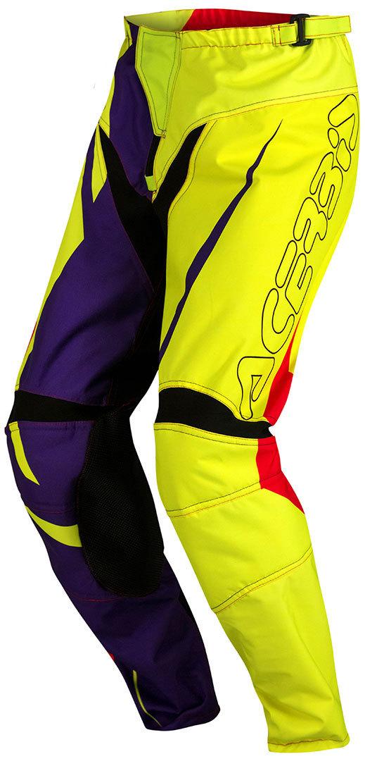 Acerbis Spellblast Kinder Motocross Hose, blau-gelb, Größe XL, blau-gelb, Größe XL