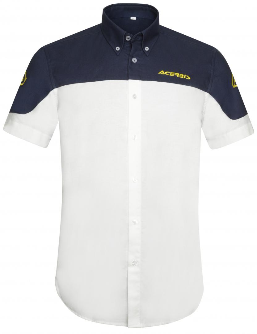 Acerbis Team Hemd, weiss-blau, Größe XL, weiss-blau, Größe XL