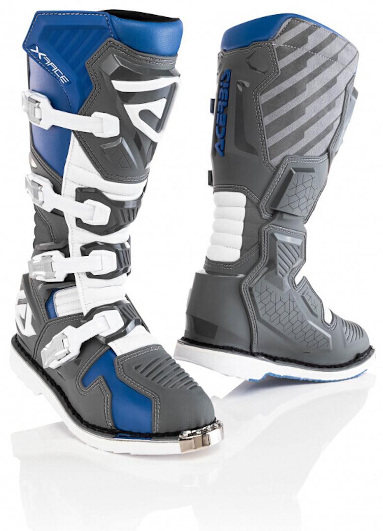 Acerbis X-Race Motocross Stiefel, grau-blau, Größe 41, grau-blau, Größe 41