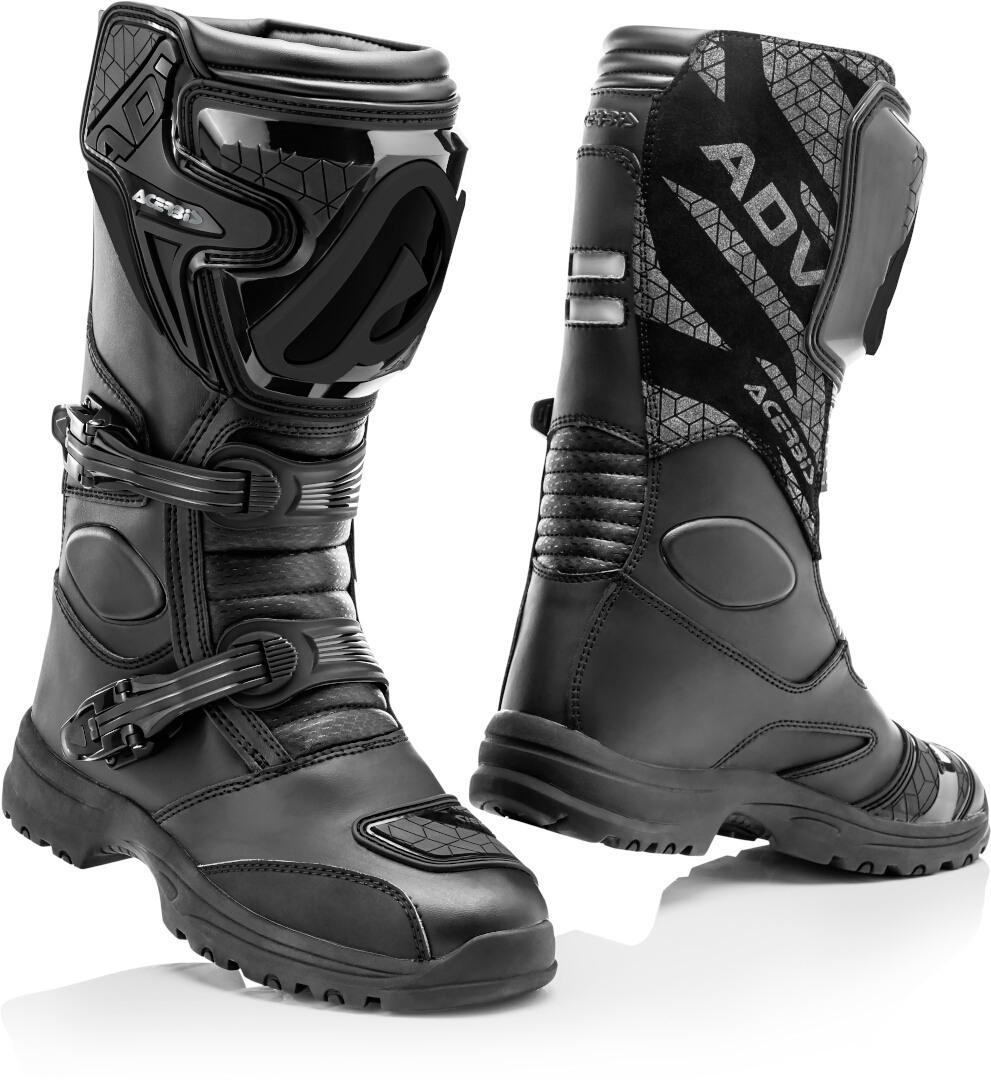 Acerbis X-Stradhu Motorrad Stiefel, schwarz, Größe 46, schwarz, Größe 46