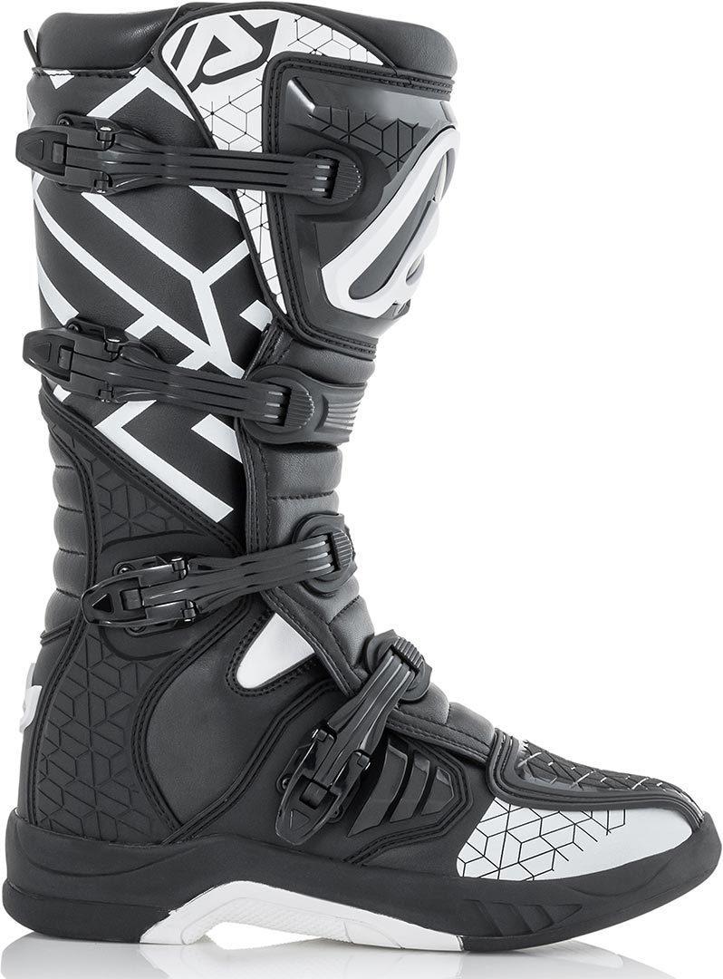 Acerbis X-Team Motocross Stiefel, schwarz-weiss, Größe 45, schwarz-weiss, Größe 45