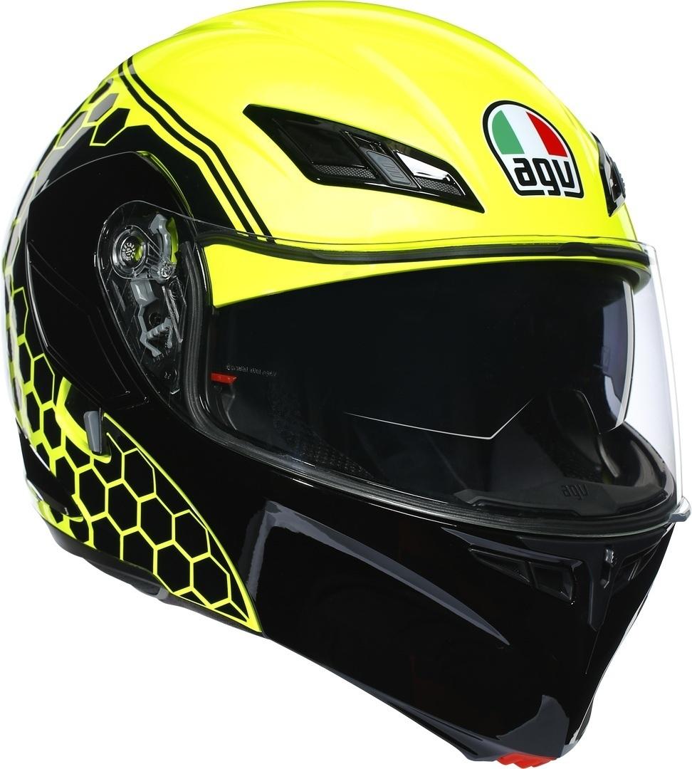 AGV Compact ST Detroit Klapphelm, schwarz-gelb, Größe M, schwarz-gelb, Größe M
