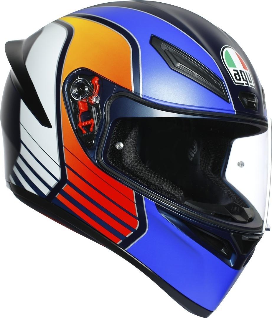 AGV K-1 Power Helm, blau-orange, Größe S, blau-orange, Größe S
