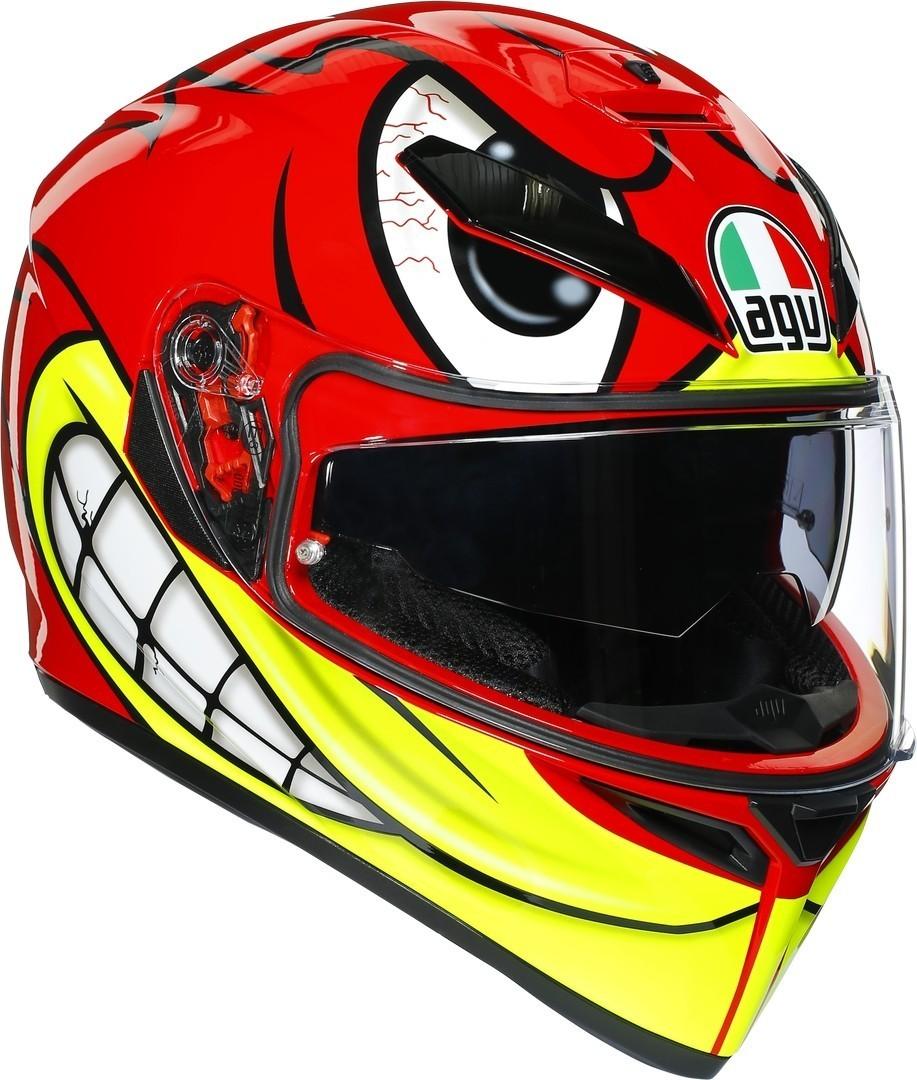 AGV K-3 SV Birdy Helm, rot-gelb, Größe 2XL, rot-gelb, Größe 2XL