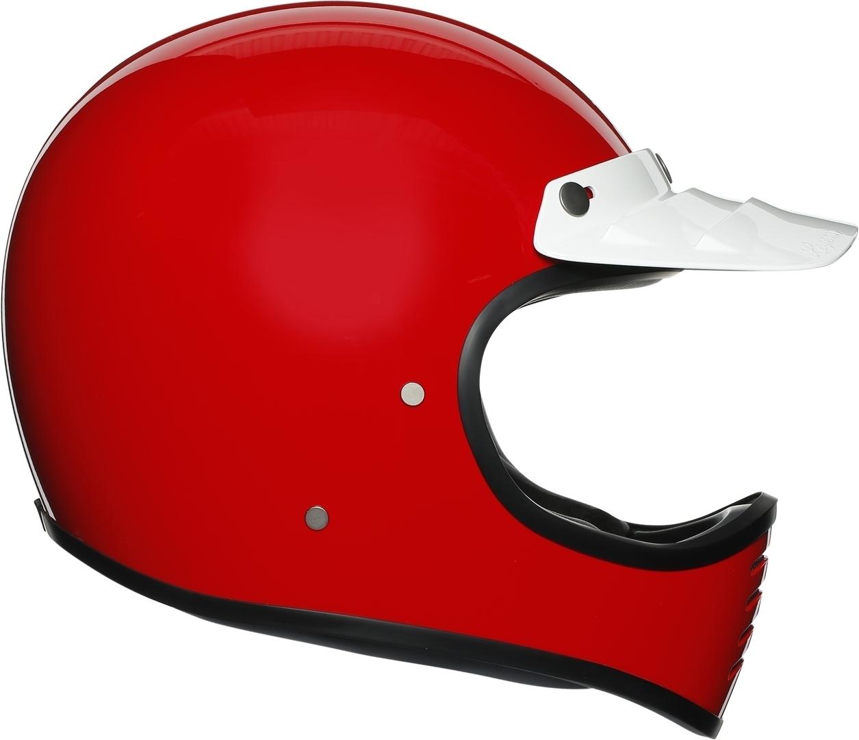 AGV Legends X101 Red Helm, rot, Größe S, rot, Größe S