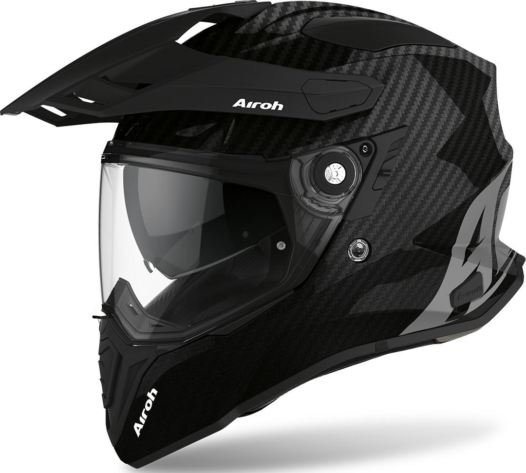 Airoh Commander Carbon Motocross Helm, schwarz-carbon, Größe S, schwarz-carbon, Größe S