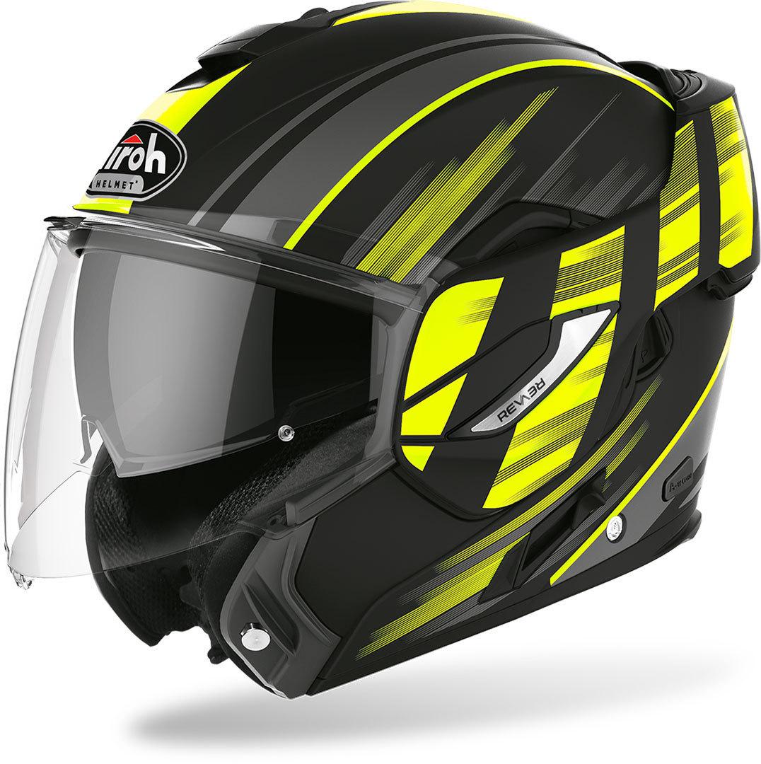 Airoh Rev 19 Ikon Klapphelm, schwarz-gelb, Größe XS, schwarz-gelb, Größe XS