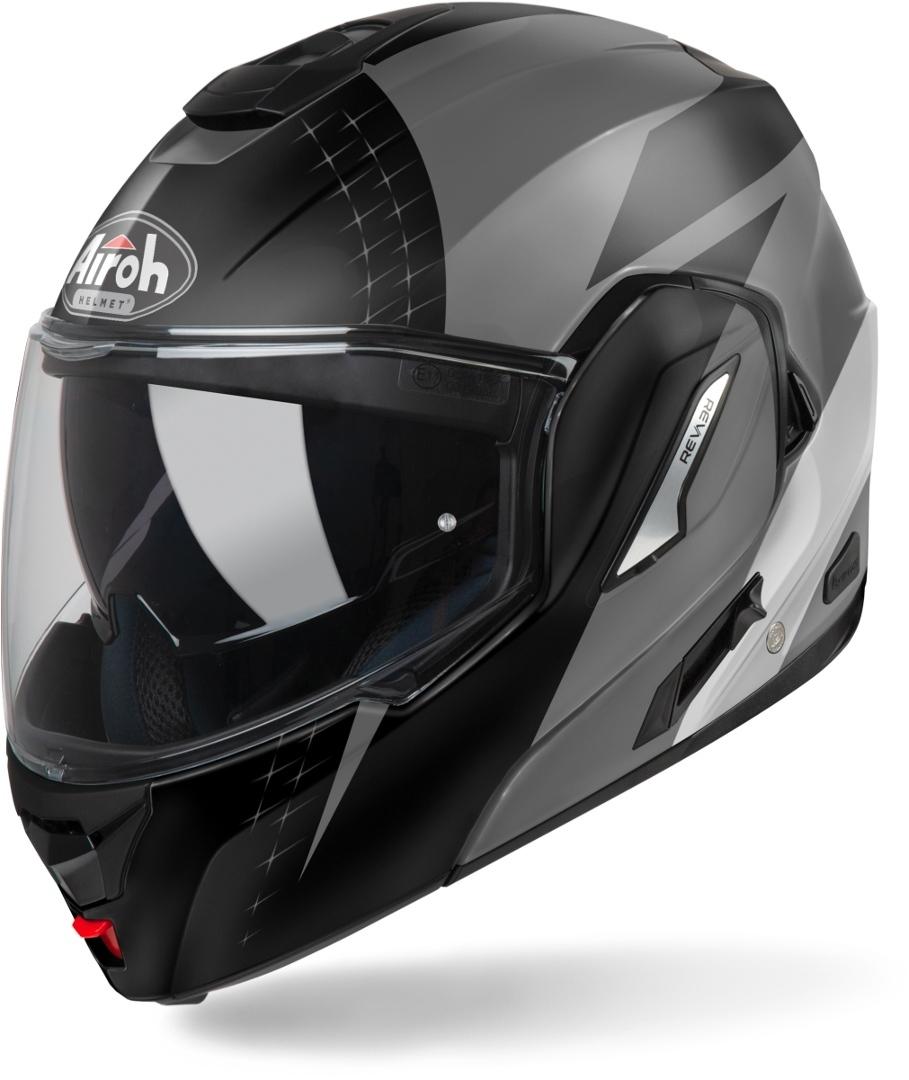 Airoh Rev 19 Leaden Klapphelm, schwarz-grau, Größe XL, schwarz-grau, Größe XL