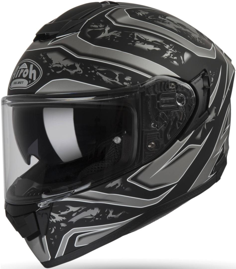 Airoh ST 501 Dude Helm, schwarz-grau, Größe L, schwarz-grau, Größe L