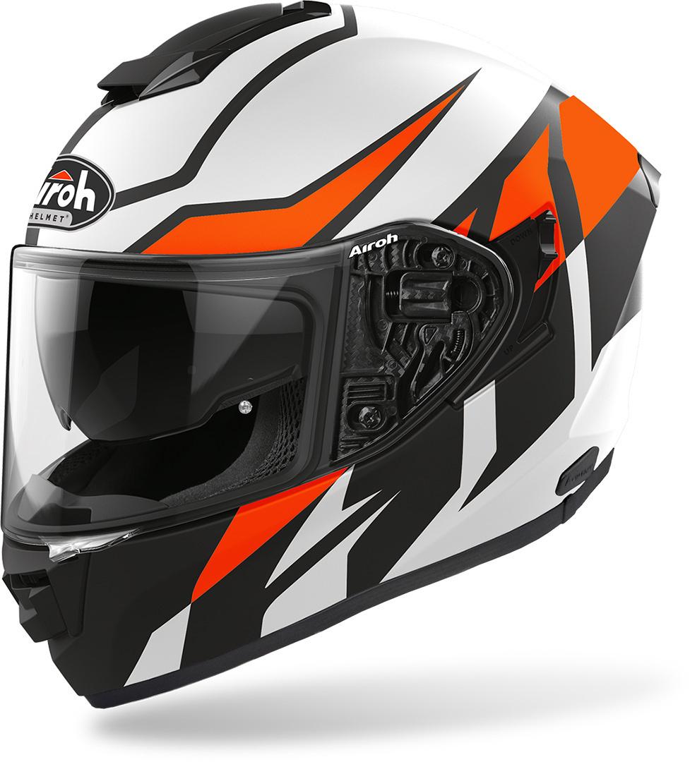 Airoh ST 501 Frost Helm, schwarz-rot, Größe L, schwarz-rot, Größe L