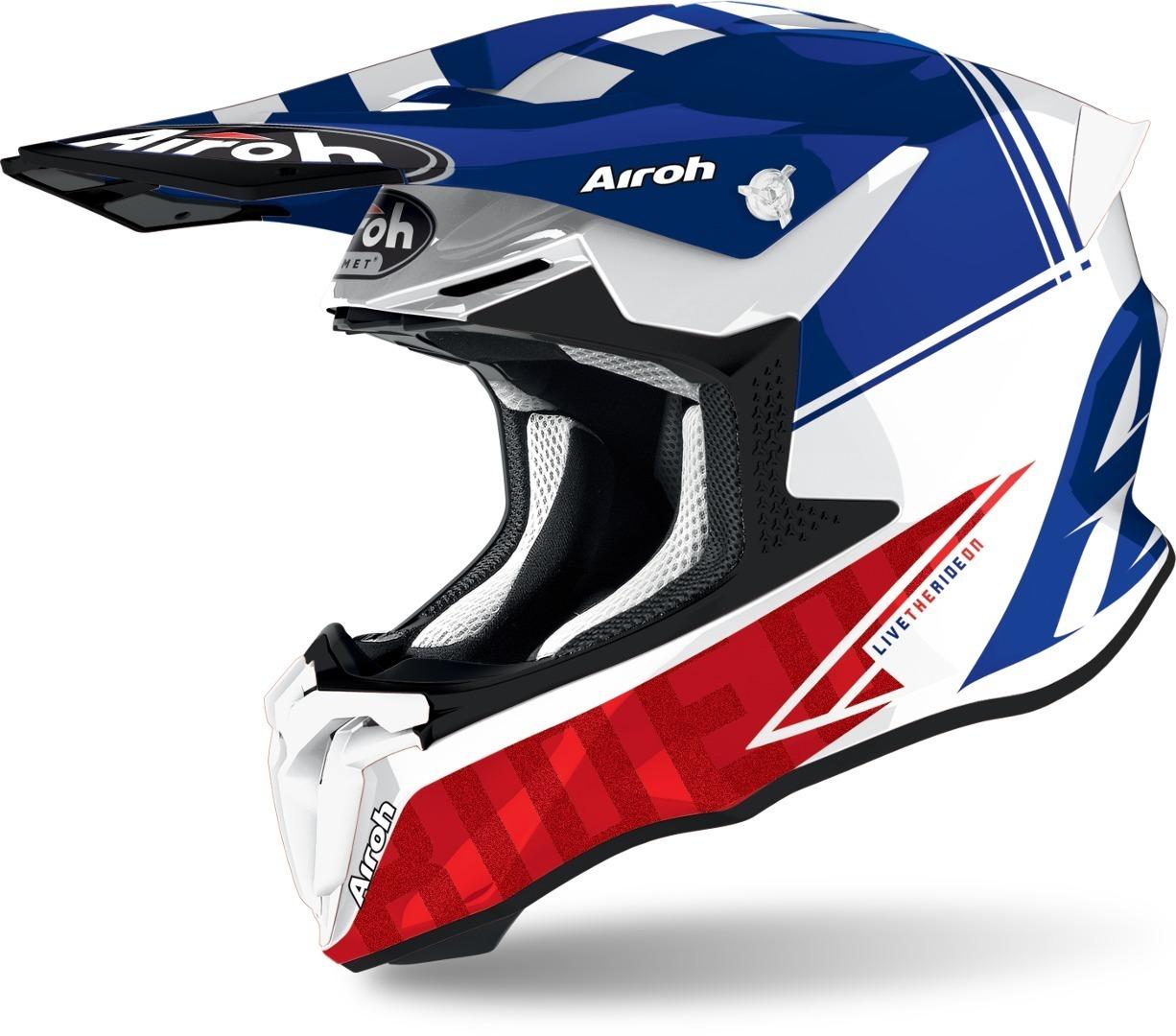 Airoh Twist 2.0 Tech Motocross Helm, blau, Größe XL, blau, Größe XL