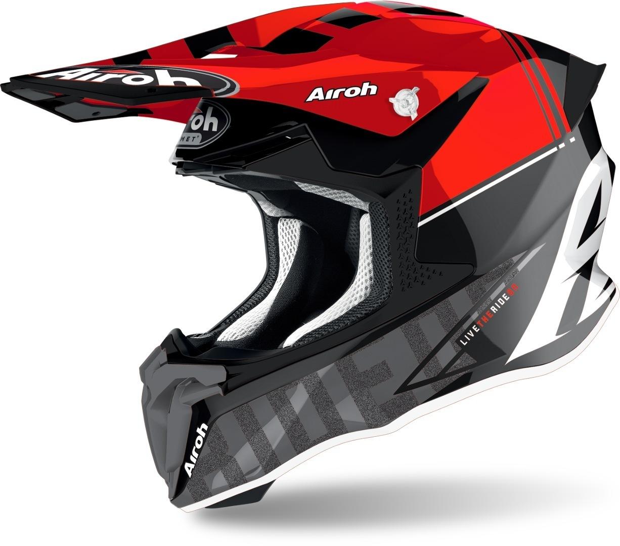 Airoh Twist 2.0 Tech Motocross Helm, rot, Größe XS, rot, Größe XS