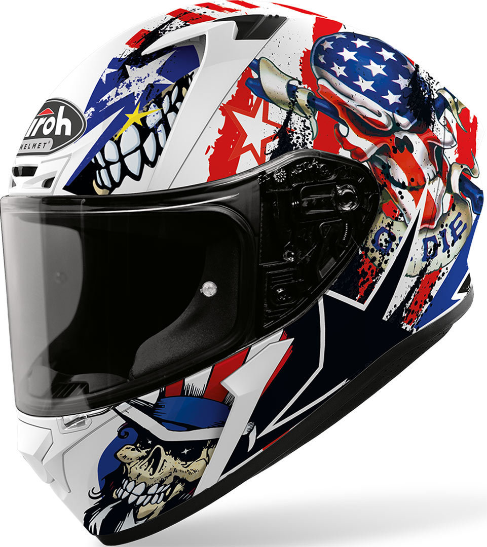 Airoh Valor Uncle Sam Helm, weiss-rot-blau, Größe 2XL, weiss-rot-blau, Größe 2XL