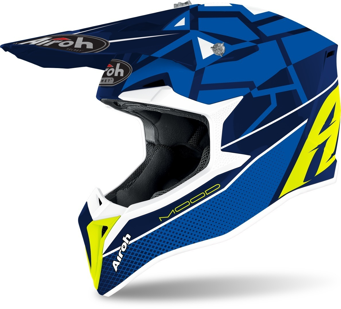 Airoh Wraap Mood Motocross Helm, blau, Größe M, blau, Größe M