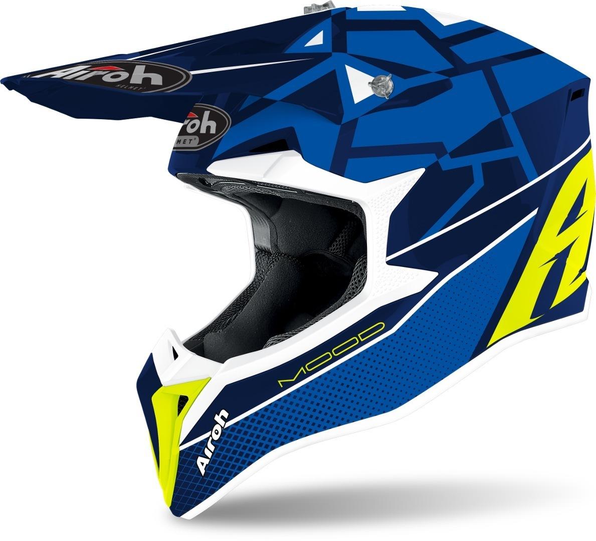 Airoh Wraap Mood Motocross Helm, blau, Größe XL, blau, Größe XL