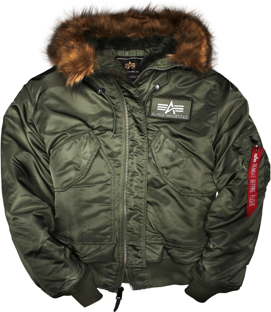Alpha Industries 45P Hooded Jacke, grün, Größe S, grün, Größe S