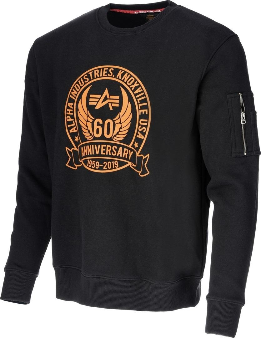 Alpha Industries Anniversary Sweater, schwarz, Größe 2XL, schwarz, Größe 2XL