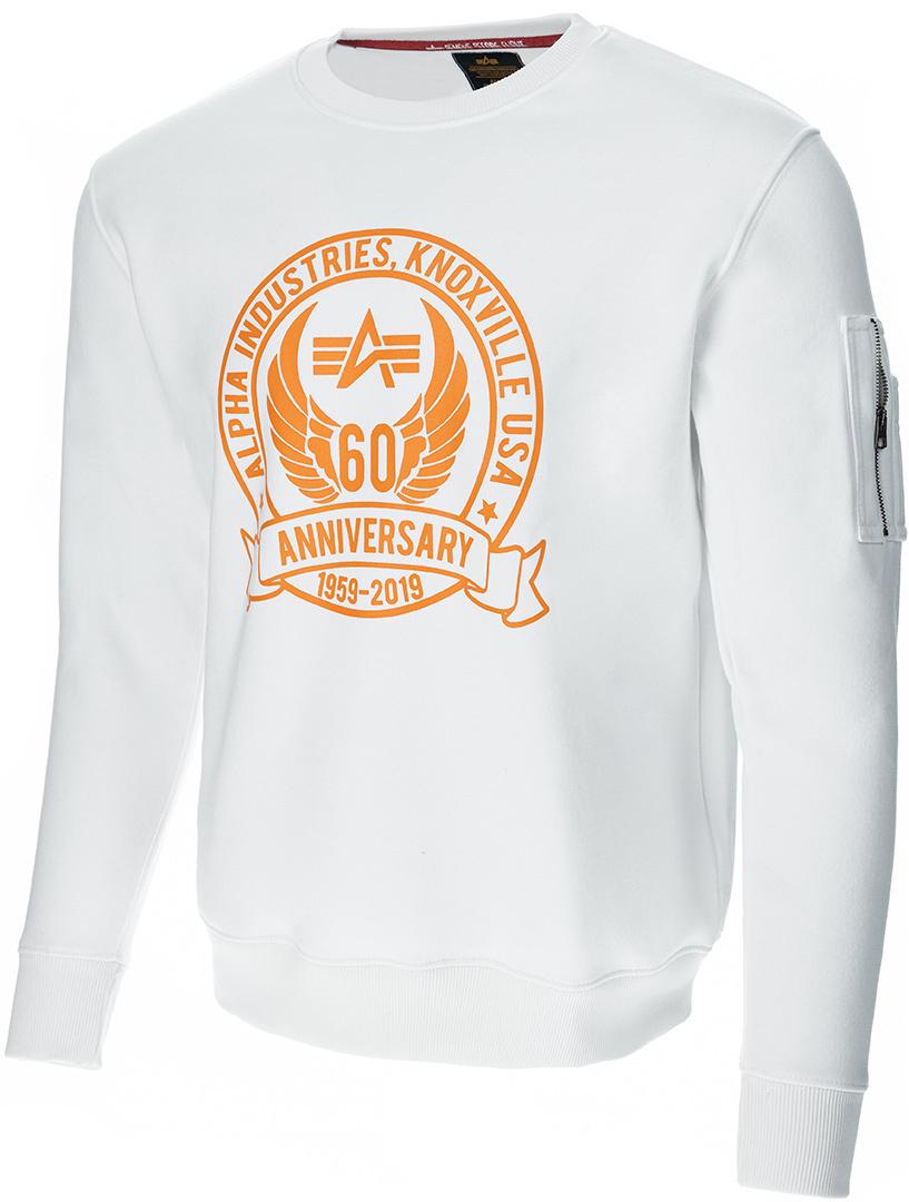 Alpha Industries Anniversary Sweater, weiss, Größe S, weiss, Größe S