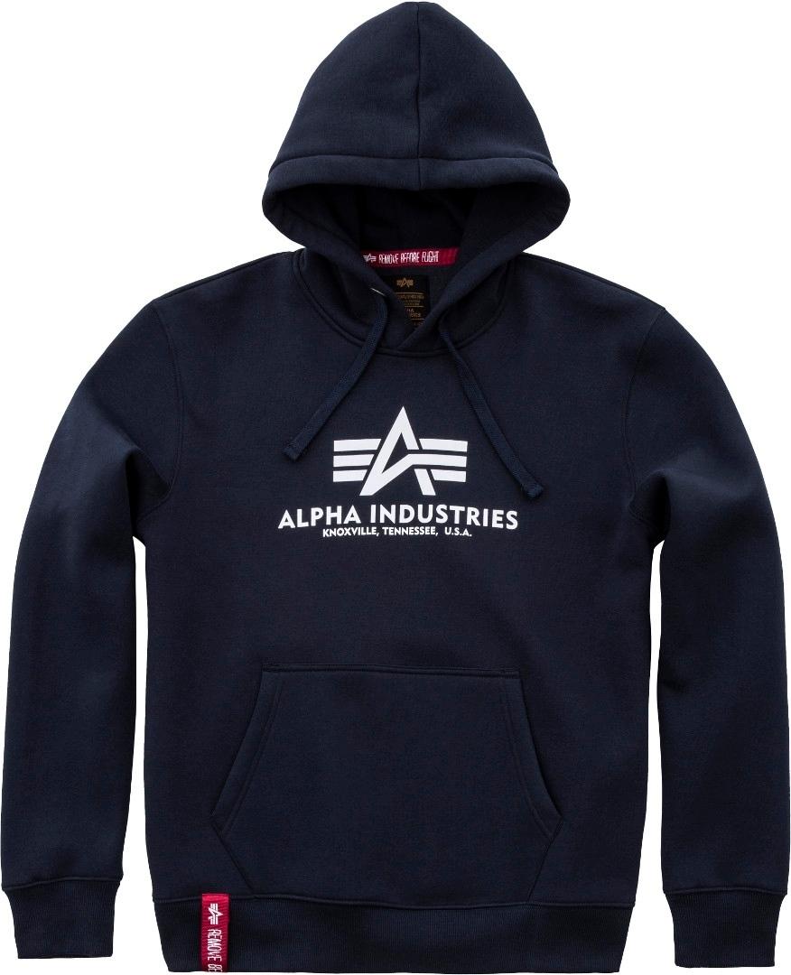 Alpha Industries Basic Hoodie, blau, Größe L, blau, Größe L