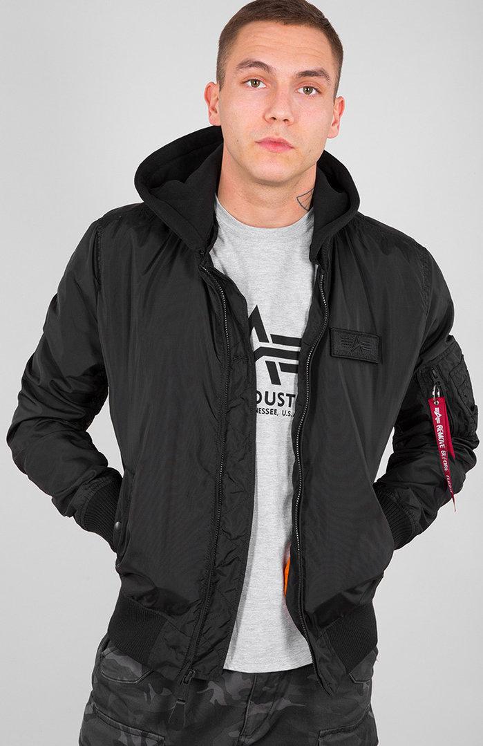 Alpha Industries MA-1 TT Hood Jacke, schwarz, Größe L, schwarz, Größe L