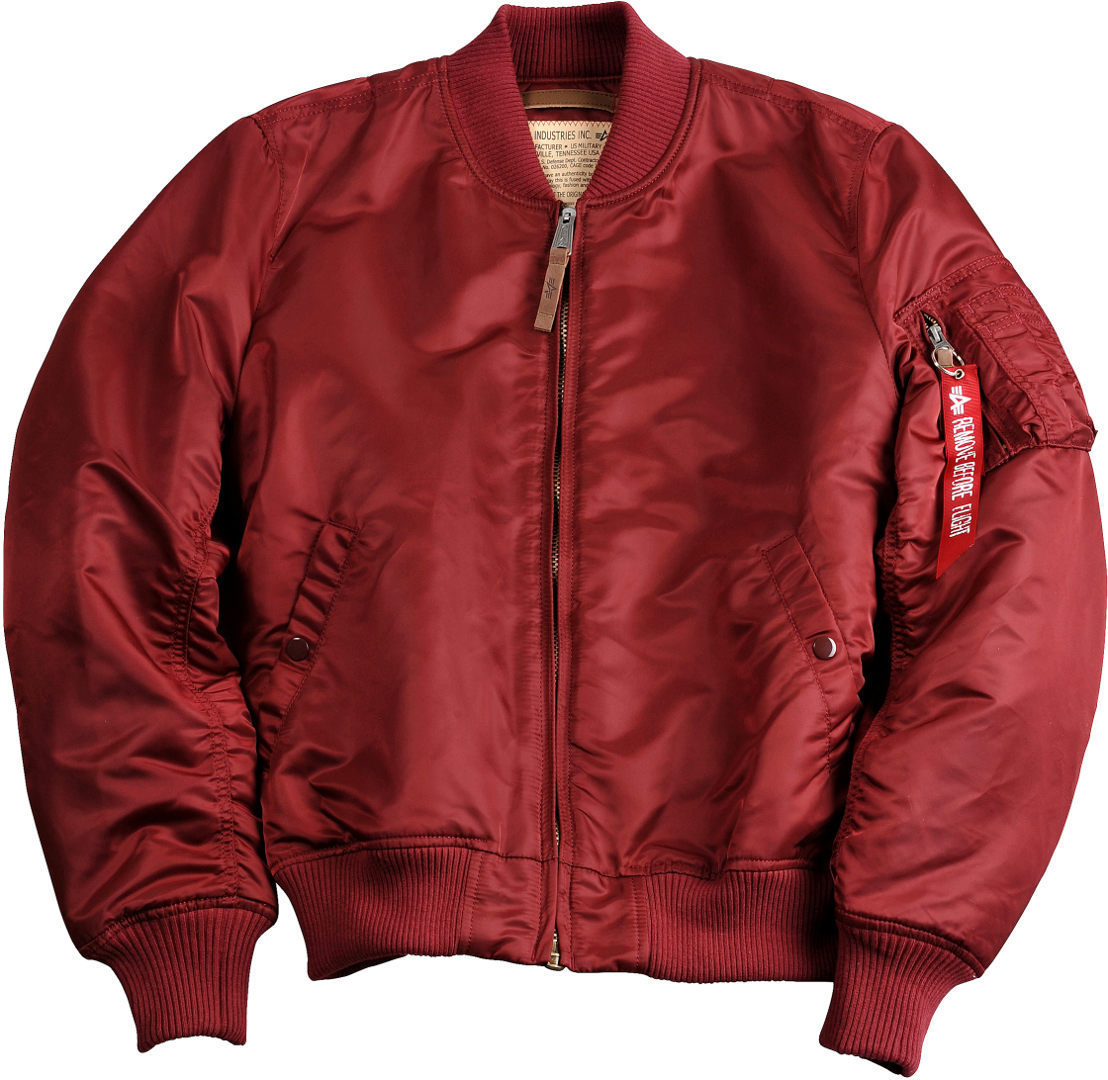 Alpha Industries MA-1 VF 59 Jacke, rot, Größe L, rot, Größe L