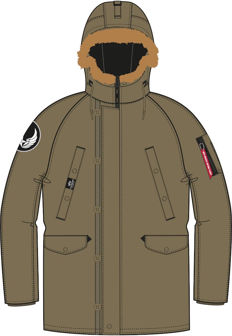 Alpha Industries N3B Airborne Jacke, grün-braun, Größe L, grün-braun, Größe L