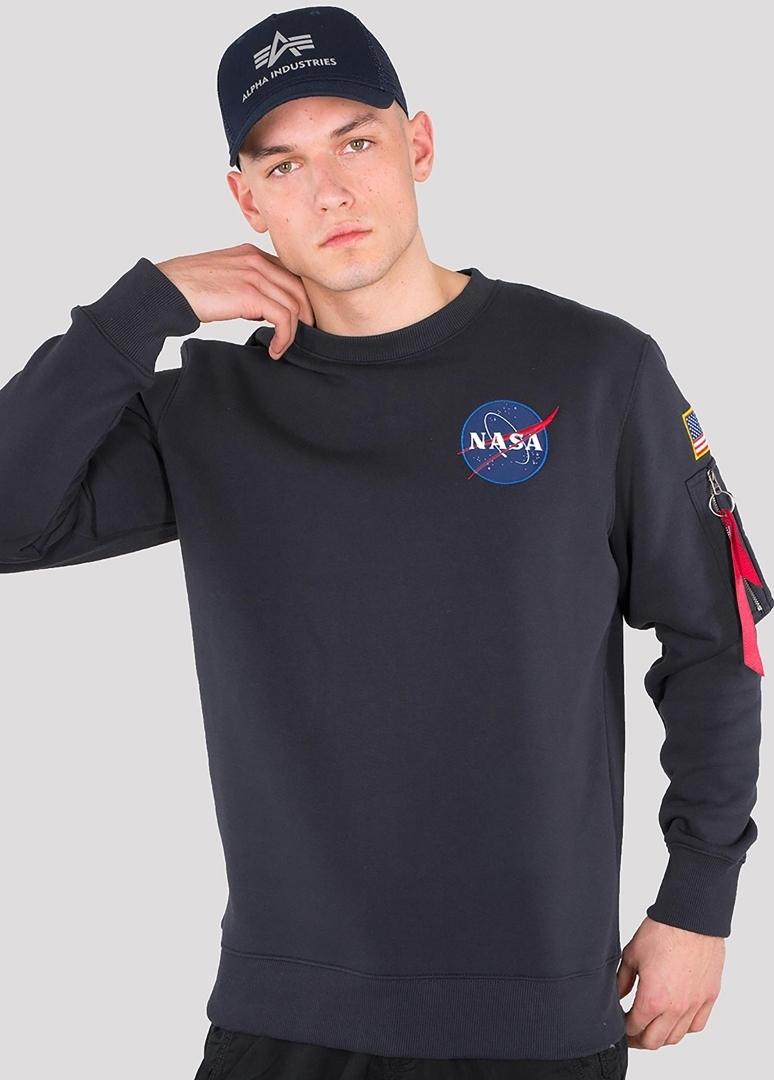 Alpha Industries Space Shuttle Sweatshirt, blau, Größe L, blau, Größe L