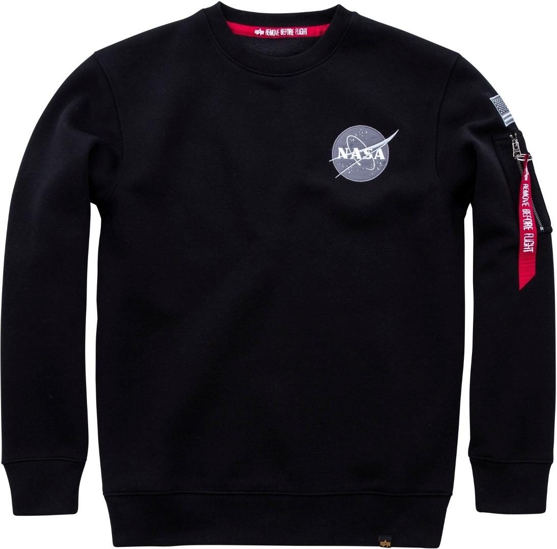 Alpha Industries Space Shuttle Sweatshirt, schwarz, Größe XL, schwarz, Größe XL