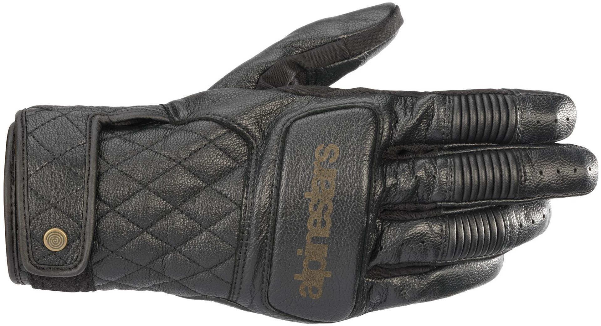 Alpinestars Brass Motorradhandschuhe, schwarz, Größe S, schwarz, Größe S