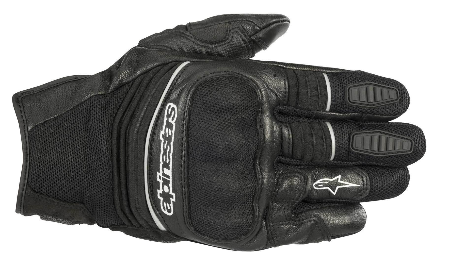 Alpinestars Crosser Motorrad Textil Handschuhe, schwarz, Größe L, schwarz, Größe L