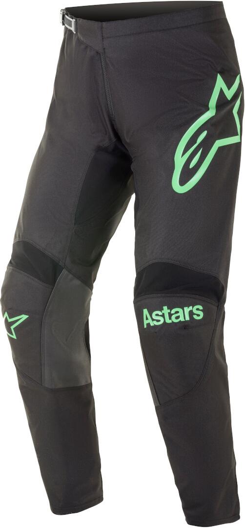 Alpinestars Fluid Chaser Motocross Hose, schwarz-türkis, Größe 34, schwarz-türkis, Größe 34