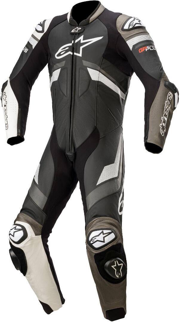 Alpinestars GP Plus V3 1-Teiler Motorrad Lederkombi, schwarz-grau-weiss, Größe 60, schwarz-grau-weiss, Größe 60