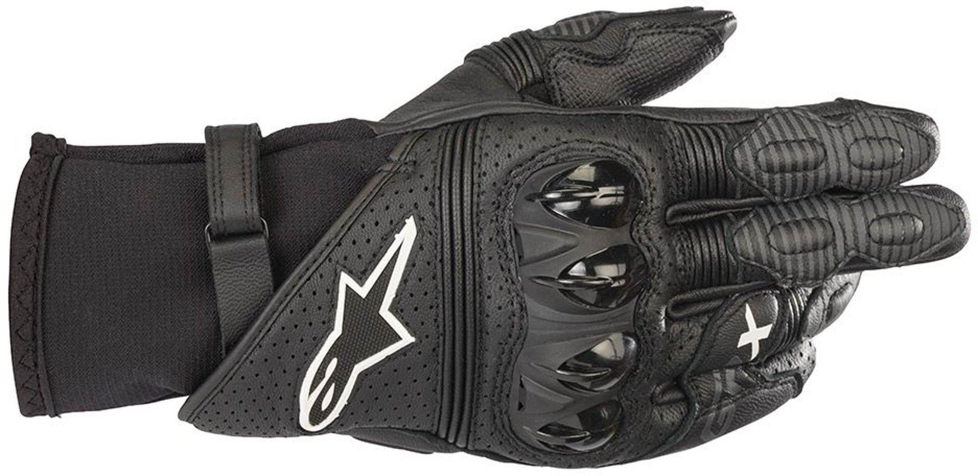Alpinestars GP X V2 Motorradhandschuhe, schwarz, Größe XL, schwarz, Größe XL