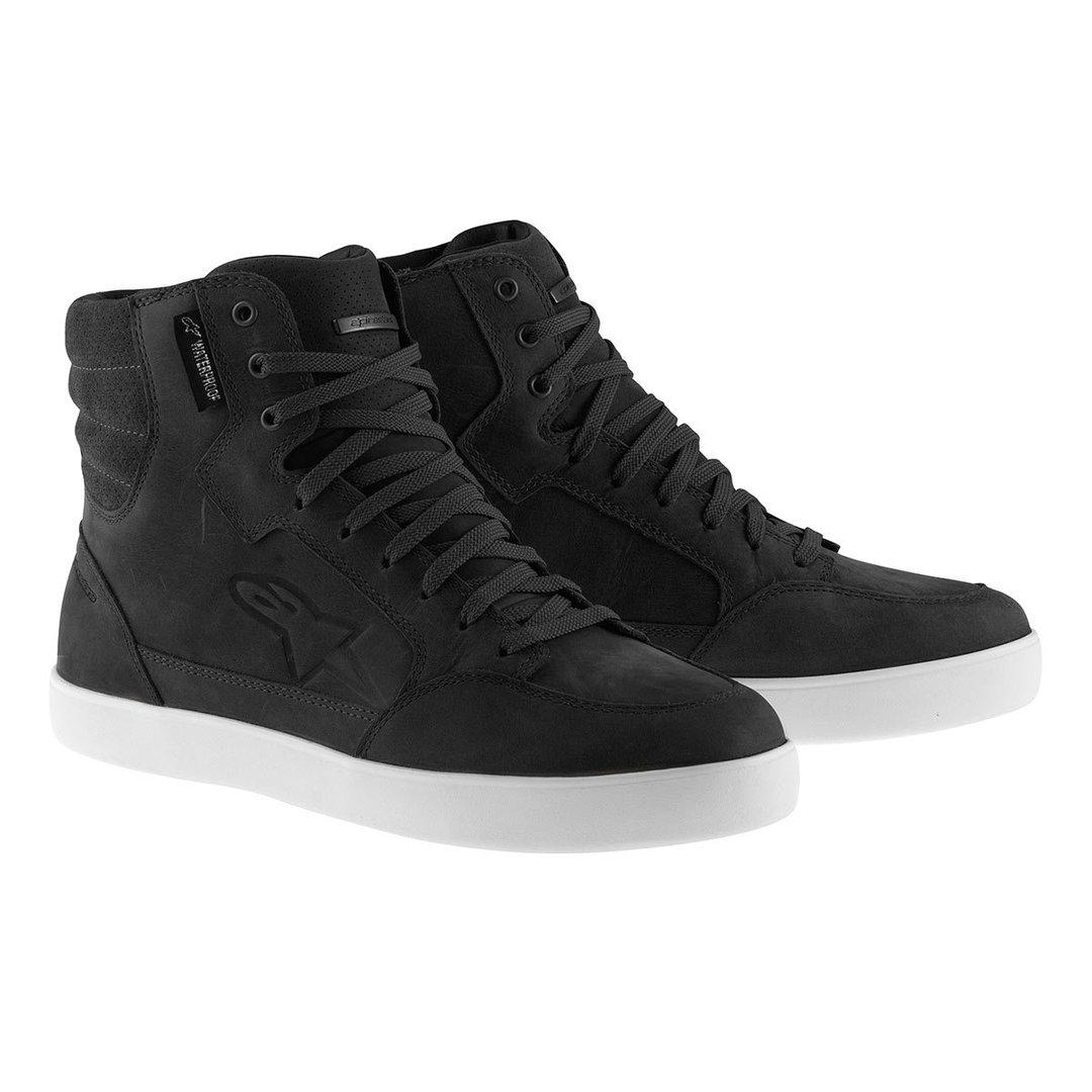 Alpinestars J-6 wasserdichte Schuhe, schwarz-weiss, Größe 45 46, schwarz-weiss, Größe 45 46