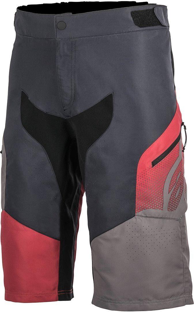 Alpinestars Predator Fahrradshorts, schwarz-grau-rot, Größe 28, schwarz-grau-rot, Größe 28