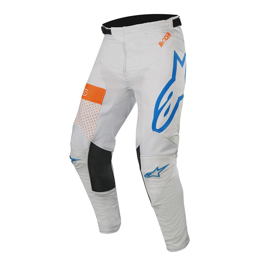 Alpinestars Racer Tech Atomic Motocross Hose, weiss-blau, Größe 36, weiss-blau, Größe 36