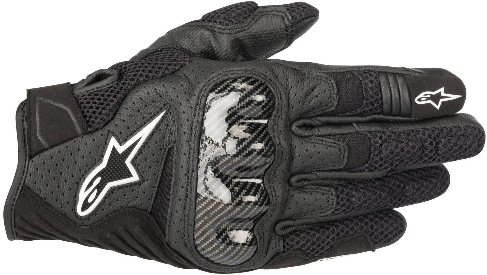 Alpinestars SMX 1 Air V2 Handschuhe, schwarz, Größe 3XL, schwarz, Größe 3XL