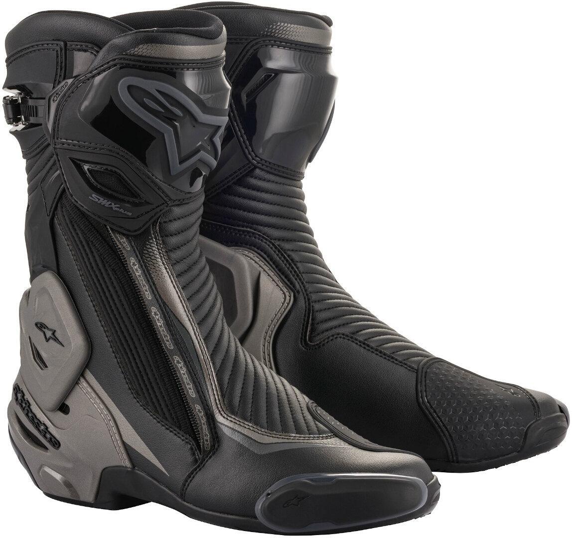 Alpinestars SMX Plus v2 Motorradstiefel, schwarz-grau, Größe 44, schwarz-grau, Größe 44