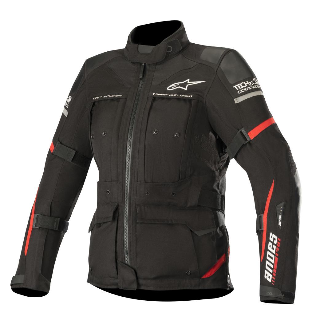 Alpinestars Stella Andes Pro Drystar Tech-Air Damen Motorrad Textiljacke, schwarz-rot, Größe XL, schwarz-rot, Größe XL