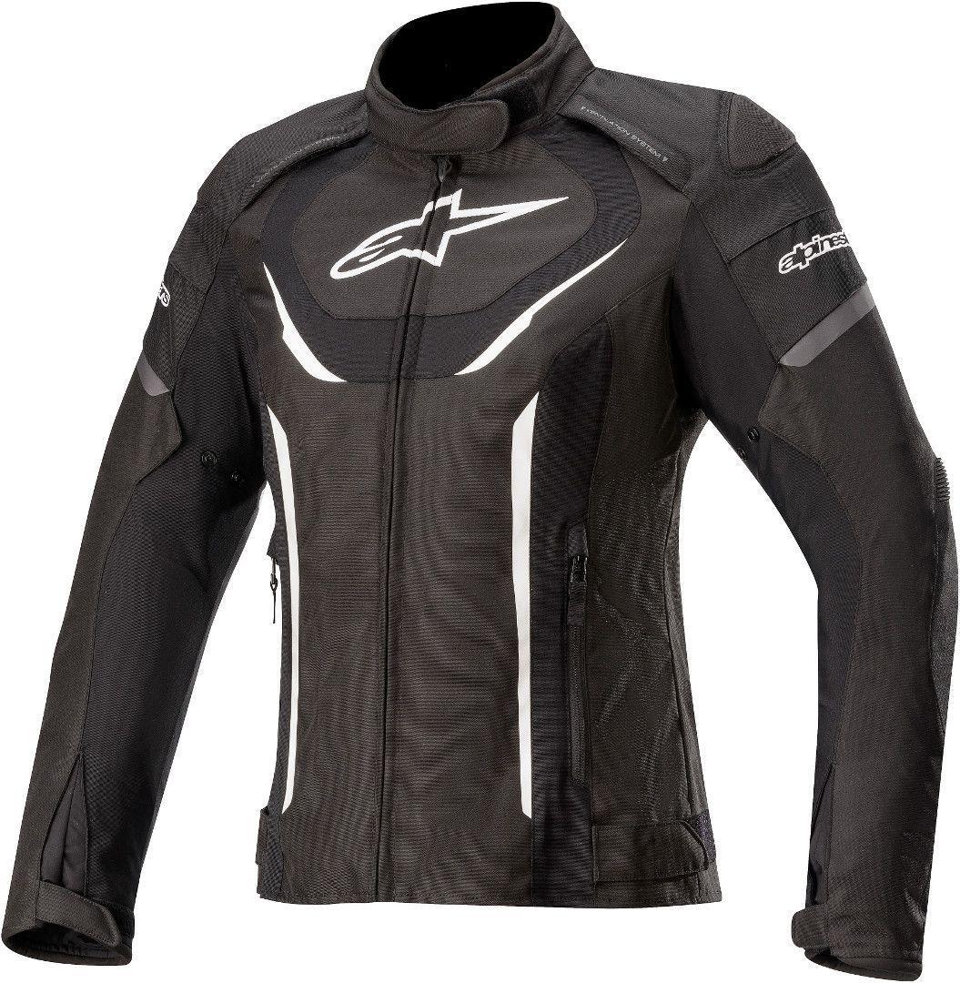 Alpinestars Stella T-Jaws V3 Wasserdichte Damen Motorrad Textiljacke, schwarz-weiss, Größe S, schwarz-weiss, Größe S