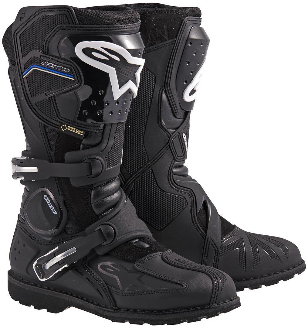 Alpinestars Toucan Gore-Tex Motorradstiefel, schwarz, Größe 43, schwarz, Größe 43