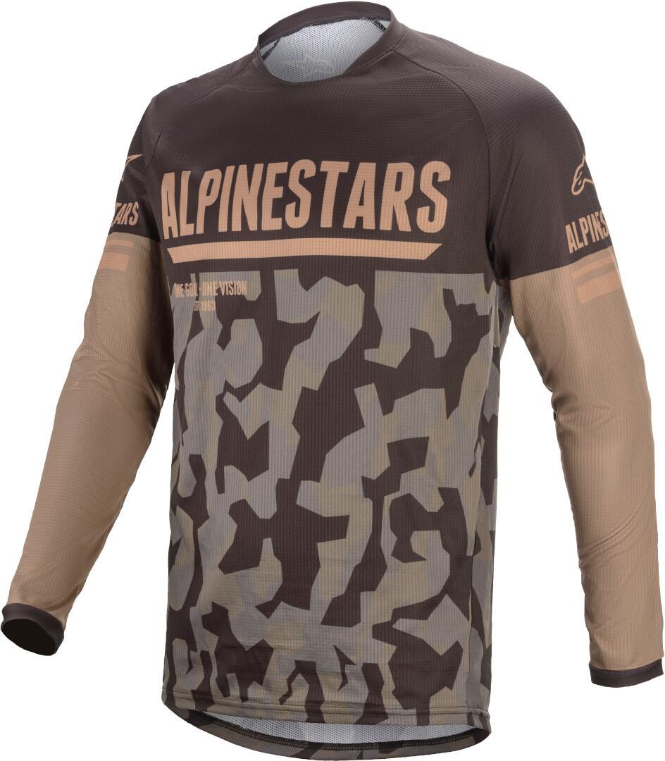 Alpinestars Venture R Camo Motocross Jersey, schwarz-braun, Größe XL, schwarz-braun, Größe XL