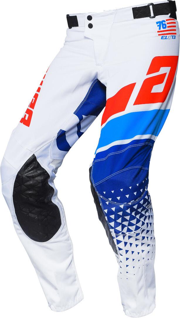 Answer Elite Korza Motocross Hose, weiss-blau, Größe 34, weiss-blau, Größe 34