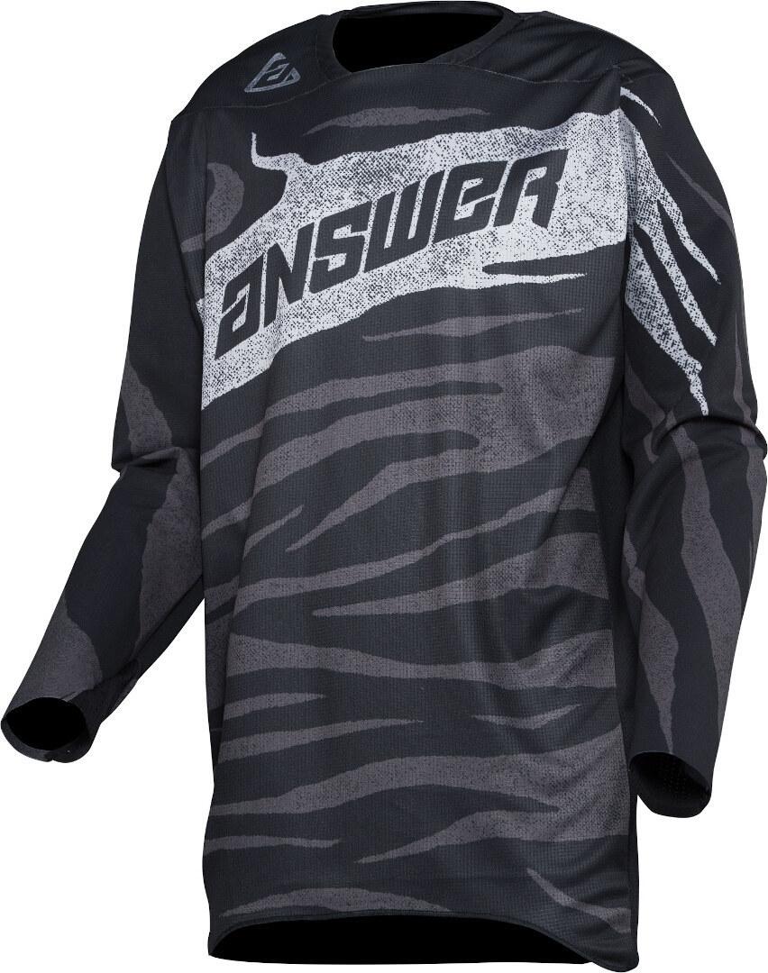 Answer Elite OPS Motocross Jersey, schwarz-grau-weiss, Größe M, schwarz-grau-weiss, Größe M